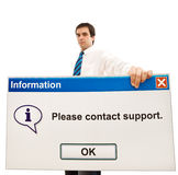 φιλικό μήνυμα υπολογιστώ& στοκ φωτογραφία με δικαίωμα ελεύθερης χρήσης