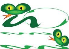φιλικό φίδι εμβλημάτων Στοκ εικόνες με δικαίωμα ελεύθερης χρήσης