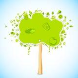 φιλικό δέντρο eco Στοκ Εικόνες