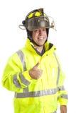φιλικό thumbsup πυροσβεστών στοκ φωτογραφίες