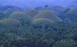 Φιλιππίνες: Λόφοι σοκολάτας παγκόσμιων κληρονομιών της ΟΥΝΕΣΚΟ στο νησί Luzon στοκ φωτογραφίες