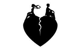 φιλονικία εραστών κοριτσιών αγοριών Στοκ Φωτογραφίες