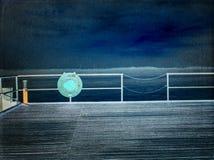 φιλτραρισμένος Ο τρύγος τόνισε τη βρώμικη εικόνα φακών μιας αποβάθρας στο ηλιοβασίλεμα στοκ φωτογραφία με δικαίωμα ελεύθερης χρήσης