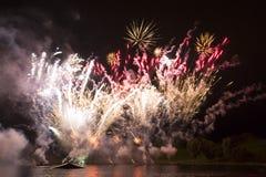 Φινάλε grande των πυροτεχνημάτων Στοκ Φωτογραφία