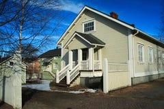 φινλανδικό σπίτι ξύλινο Στοκ εικόνες με δικαίωμα ελεύθερης χρήσης