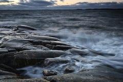 Φινλανδία: Ακτή της θάλασσας της Βαλτικής Στοκ Εικόνα