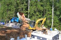 Φινλανδία: Εργοτάξιο οικοδομής σαουνών στοκ φωτογραφία