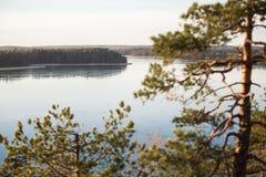 Φινλανδία, Ελσίνκι, πρόσφατο φθινόπωρο Η θάλασσα της Βαλτικής, κόλπος Στοκ Φωτογραφία