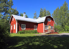 Φινλανδία, Savonia/Kuopio: Φινλανδική αρχιτεκτονική - ιστορικά αγρόκτημα/κεντρικό κτίριο (1860) Στοκ εικόνα με δικαίωμα ελεύθερης χρήσης