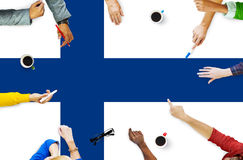 Φινλανδική έννοια ελευθερίας κυβερνητικής ελευθερίας εθνικών σημαιών Στοκ Εικόνα