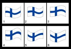 Φινλανδική σημαία ζωτικότητας Στοκ εικόνες με δικαίωμα ελεύθερης χρήσης