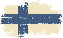 Φινλανδική σημαία grunge επίσης corel σύρετε το διάνυσμα απεικόνισης Στοκ Φωτογραφίες