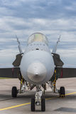 Φινλανδικό F/A-18 Hornet που σταθμεύουν Στοκ εικόνες με δικαίωμα ελεύθερης χρήσης