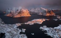 Φιορδ Lofoten, Νορβηγία Στοκ εικόνες με δικαίωμα ελεύθερης χρήσης