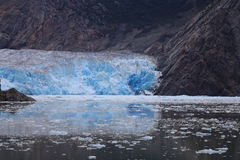 Φιορδ βραχιόνων της Tracy - παγετώνας στοκ εικόνα με δικαίωμα ελεύθερης χρήσης