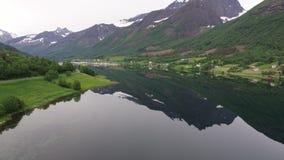 φιορδ νορβηγικά απόθεμα βίντεο