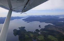 Φιορδ της Misty Flightseeing Στοκ Εικόνα