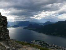 Φιορδ Andalsnes, Nesaksla τοπίων της Νορβηγίας, Στοκ φωτογραφίες με δικαίωμα ελεύθερης χρήσης