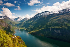 φιορδ geiranger Νορβηγία Στοκ Φωτογραφίες