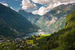 Φιορδ Geiranger, Νορβηγία Στοκ φωτογραφία με δικαίωμα ελεύθερης χρήσης