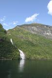 φιορδ geiranger Νορβηγία Στοκ εικόνες με δικαίωμα ελεύθερης χρήσης