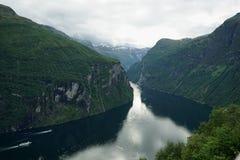 φιορδ geiranger Νορβηγία Στοκ Εικόνα