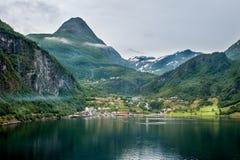 φιορδ geiranger Νορβηγία Στοκ εικόνα με δικαίωμα ελεύθερης χρήσης