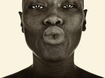 Φιλήστε τη κάμερα Στοκ φωτογραφία με δικαίωμα ελεύθερης χρήσης