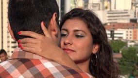 Φιλί ανδρών και γυναικών απόθεμα βίντεο