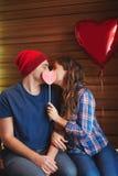 Φιλί βαλεντίνων Στοκ Φωτογραφία