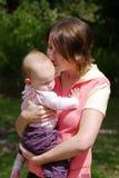Φιλί για το μωρό Στοκ εικόνα με δικαίωμα ελεύθερης χρήσης