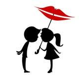 Φιλί των παιδιών Στοκ εικόνα με δικαίωμα ελεύθερης χρήσης