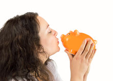Φιλί piggybank Στοκ Εικόνα