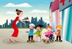 Φιλανθρωπία για την υγεία παιδιών ελεύθερη απεικόνιση δικαιώματος