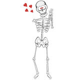 Φιλαράκος σκελετών διανυσματική απεικόνιση
