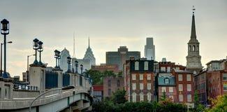 Φιλαδέλφεια - παλαιά πόλη και κεντρική πόλη στοκ φωτογραφία με δικαίωμα ελεύθερης χρήσης