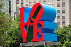 Φιλαδέλφεια, PA: Γλυπτό αγάπης Στοκ φωτογραφία με δικαίωμα ελεύθερης χρήσης