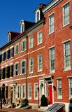Φιλαδέλφεια, PA: Ομοσπονδιακά σπίτια νότιων 4ων οδών Στοκ Φωτογραφία