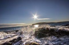 Φιλημένη ήλιος κυματωγή Στοκ εικόνα με δικαίωμα ελεύθερης χρήσης
