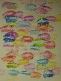 φιλιά Στοκ εικόνα με δικαίωμα ελεύθερης χρήσης