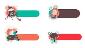 Φιλικά εμβλήματα Eco Ελεύθερη απεικόνιση δικαιώματος
