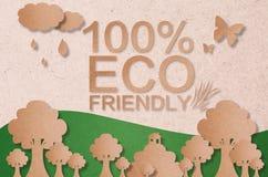 φιλική έννοια eco 100% Στοκ εικόνα με δικαίωμα ελεύθερης χρήσης