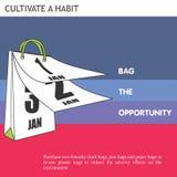 Φιλική τσάντα ιδεών Eco η ευκαιρία Στοκ Φωτογραφίες