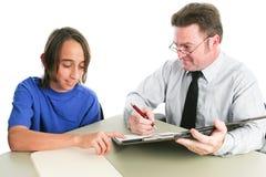 Φιλικός σύμβουλος σχολικής καθοδήγησης στοκ εικόνες