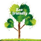 Φιλικό δέντρο Eco διανυσματική απεικόνιση