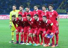 Φιλικό παιχνίδι Ουκρανία β Σερβία σε Kharkiv Στοκ Εικόνα
