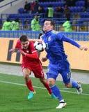 Φιλικό παιχνίδι Ουκρανία β Σερβία σε Kharkiv Στοκ Φωτογραφία