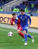Φιλικό παιχνίδι Ουκρανία β Σερβία σε Kharkiv Στοκ φωτογραφία με δικαίωμα ελεύθερης χρήσης