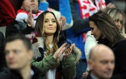 Φιλικό παιχνίδι της Πολωνίας - της Ισλανδίας Στοκ Εικόνες