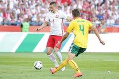 Φιλικό ποδοσφαιρικό παιχνίδι Artur Jedrzejczyk Inernational Στοκ Εικόνα